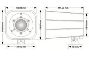 Electronic Siren - CAP 123DX